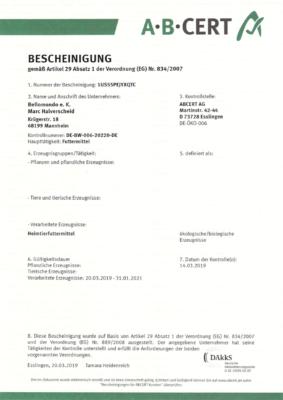 bellomondo ist auch 2020 wieder ABCERT-zertifiziert.