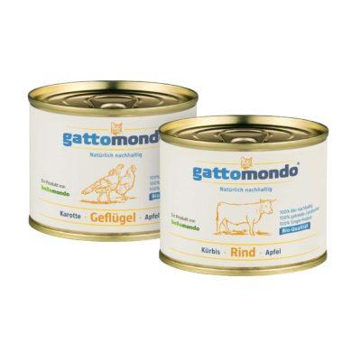 Probepaket für Stubentiger - Rind und Geflügel - gattomondo Bio-Katzenfutter