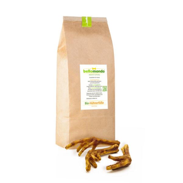 bellomondo Bio Tiernahrung - Bio-Hühnerfüße 1000g Paket