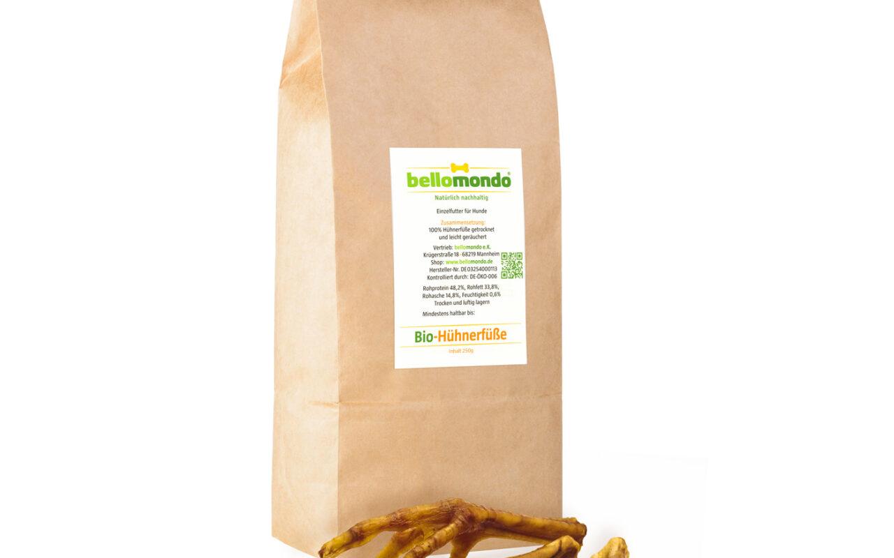 bellomondo Bio Tiernahrung - Bio-Hühnerfüße 250g Paket
